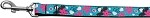 Aqua Love Nylon Ribbon Dog Collars 1 wide 4ft Leash