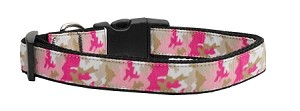 Pink Camo Nylon Collar Large