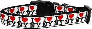 I Heart NY Ribbon Dog Collars Large