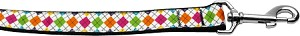 Colorful Argyle 1 inch wide 4ft long Leash