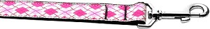 Pink Argyle 1 inch wide 4ft long Leash
