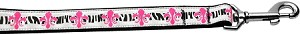 Pink Fleur de Lis 1 inch wide 4ft long Leash