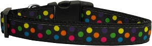 Black Multi-Dot Dog Collar Large