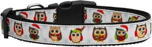 Snowy Owls Dog Collar Medium