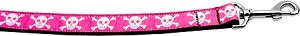 Pink Skulls 1 inch wide 4ft long Leash