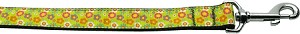 Lime Spring Flowers 1 inch wide 4ft long Leash