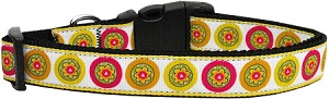 Autumn Daisies Dog Collar Large