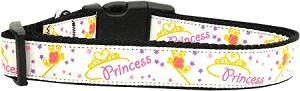 Princess Nylon Ribbon Dog Collar Medium