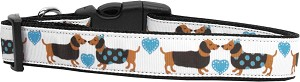 Doxie Love Nylon Dog Collars Large