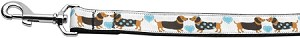 Doxie Love Nylon Ribbon Pet Leash 1 inch wide 4Ft Lsh