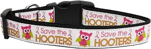 Save the Hooters Nylon Dog Collars Large