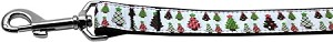 Designer Christmas Trees Nylon Dog Leashes 6 Foot Leash