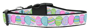 Easter Egg Nylon Ribbon Dog Collar Large