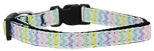 Spring Chevron Nylon Dog Collar XS