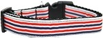 Patriotic Stripes Nylon Ribbon Dog Collar XL