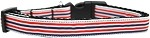 Patriotic Stripes Nylon Ribbon Dog Collar Medium Narrow