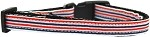 Patriotic Stripes Nylon Ribbon Cat Safety Collar
