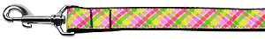 Lemondrop Plaid Nylon Dog Leash 6 Foot