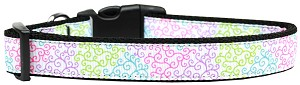 Summer Swirls Nylon Dog Collar Large