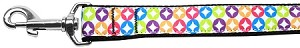 Bright Diamonds Nylon Ribbon Pet Leash 1 inch wide 4Ft Lsh