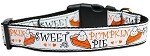 Pumpkin Pie Nylon Dog Collar Medium