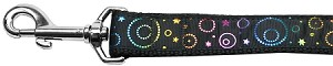 Galactic Shimmer Nylon Dog Leash 4 Foot