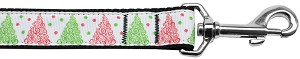 Fancy Schmancy Christmas Tree Nylon Dog Leash 4Ft