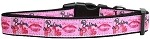 Believe in Pink Nylon Dog Collar Medium