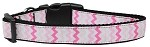 Sweet Chevrons Nylon Dog Collar Medium