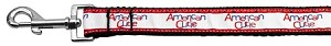 American Cutie Ribbon Dog Collars 1 wide 6ft Leash