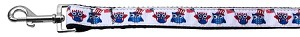 American Owls Ribbon Dog Collars 1 wide 4ft Leash