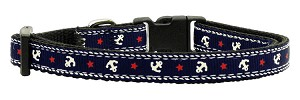 Anchors Nylon Ribbon Collar Blue Small