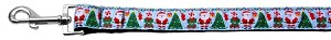 Aqua Santa Nylon Ribbon Collars 1 wide 4ft Leash