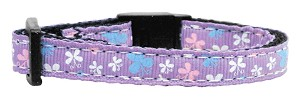 Butterfly Nylon Ribbon Collar Lavender Cat Safety
