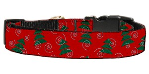 Christmas Trees Nylon and Ribbon Collars . Medium
