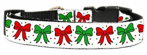 Christmas Bows Nylon Ribbon Collar Medium
