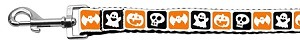 Classic Halloween Nylon Ribbon Leash 1 inch wide 4ft Long