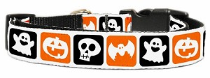 Classic Halloween Nylon Ribbon Collar Large