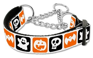Classic Halloween Nylon Ribbon Collar Martingale Large