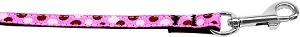 Confetti Dots Nylon Collar Bright Pink 3/8 wide 4ft Lsh