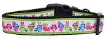 Easter Birdies Nylon Ribbon Dog Collars Medium