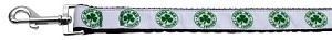 Kiss Me - I'm Irish Nylon Ribbon Pet Leash 1 inch wide 6Ft Lsh