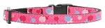 Lollipops Nylon Ribbon Collar Bright Pink Cat Safety