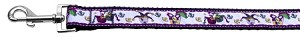 Mardi Gras Nylon Ribbon Dog Collars 1 wide 6ft Leash