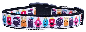 Monsters Nylon Ribbon Dog Collars Medium