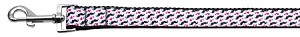 Moustache Love Ribbon Dog Collars 1 wide 4ft Leash
