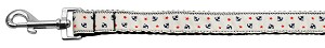 Anchors Nylon Ribbon Leash White 1 inch wide 4ft Long