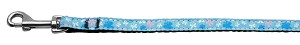 Butterfly Nylon Ribbon Collar Blue 3/8 wide 4Ft Lsh