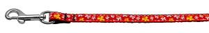 Butterfly Nylon Ribbon Collar Red 3/8 wide 6Ft Lsh