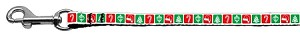 Timeless Christmas Nylon Ribbon Leash 3/8 wide 6ft Long